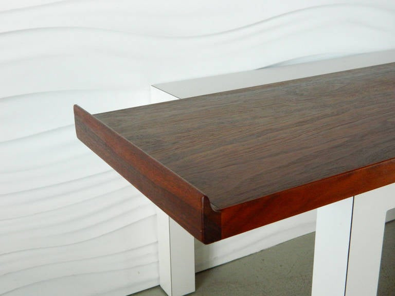 American Mid-Century Modern Floating Shelf Console At 1stdibs