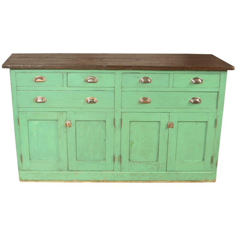 Vintage Laboratory Work Table Cabinet At 1stdibs