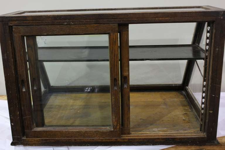 Antique Oak Counter Display Cabinet/ Showcase At 1stdibs