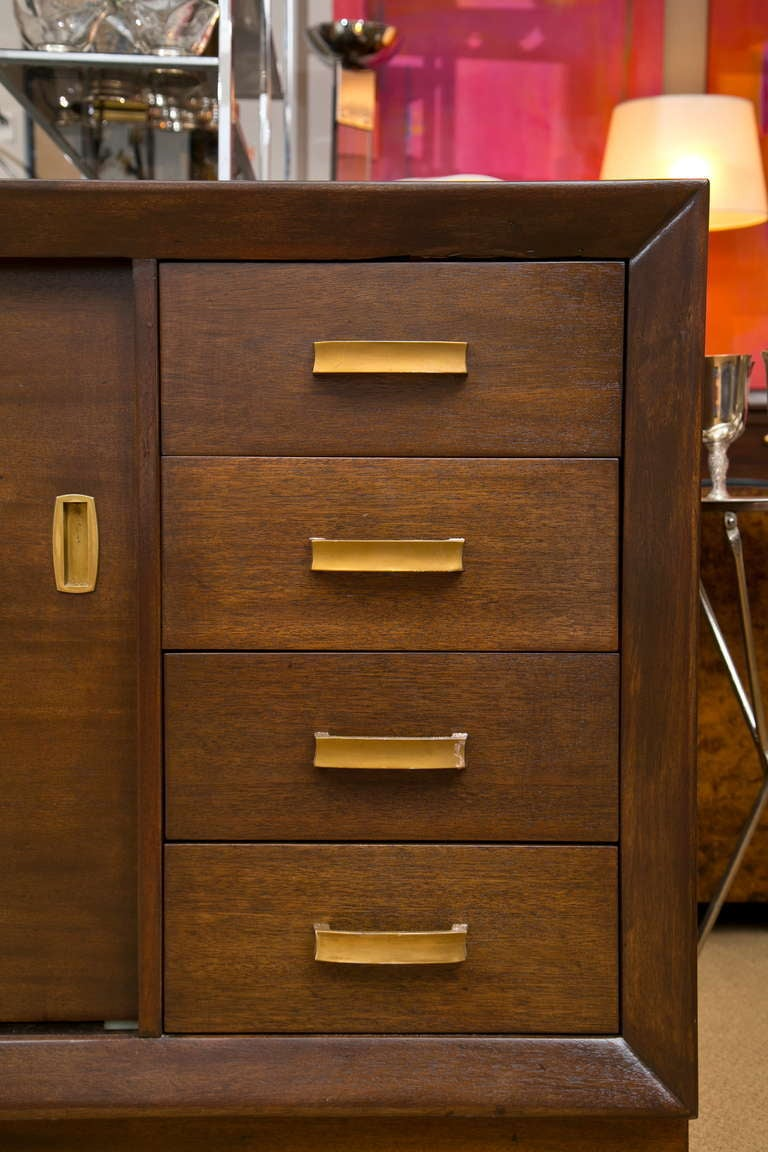 John Stuart Art Deco Hollywood Regency Style Cabinet At