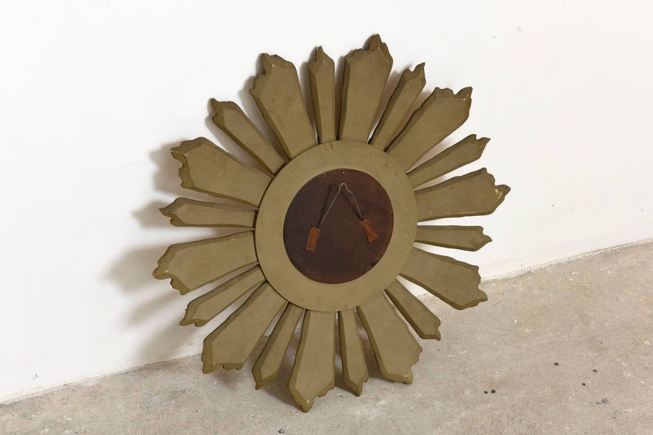 Italian Wooden Gold Gilt Sunburst Mirror At 1stdibs