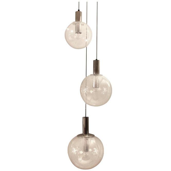 3 Glass Ball Chandelier By Limburg Germany 1960 S 1