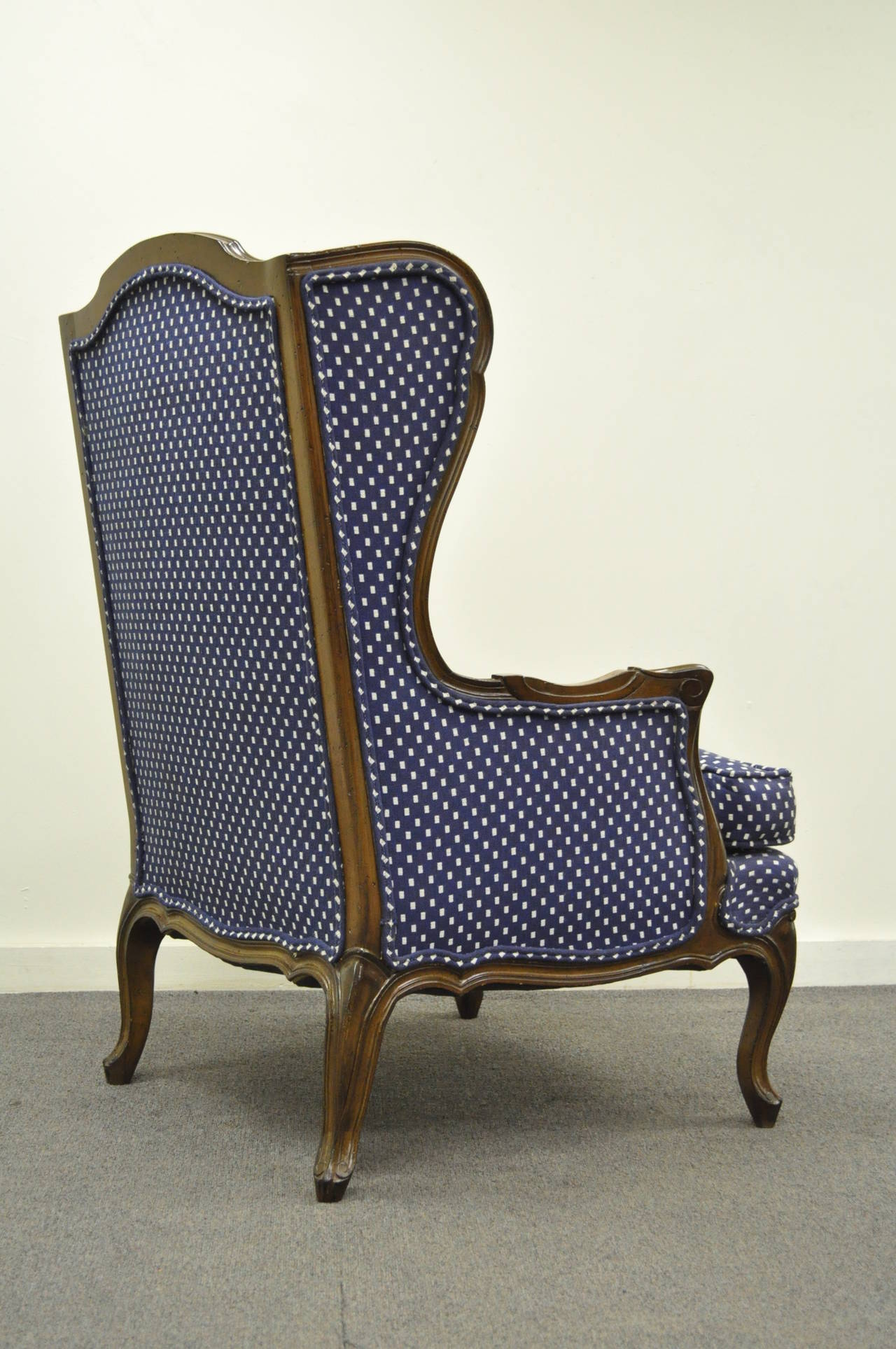 Accent Arms Blue Chair