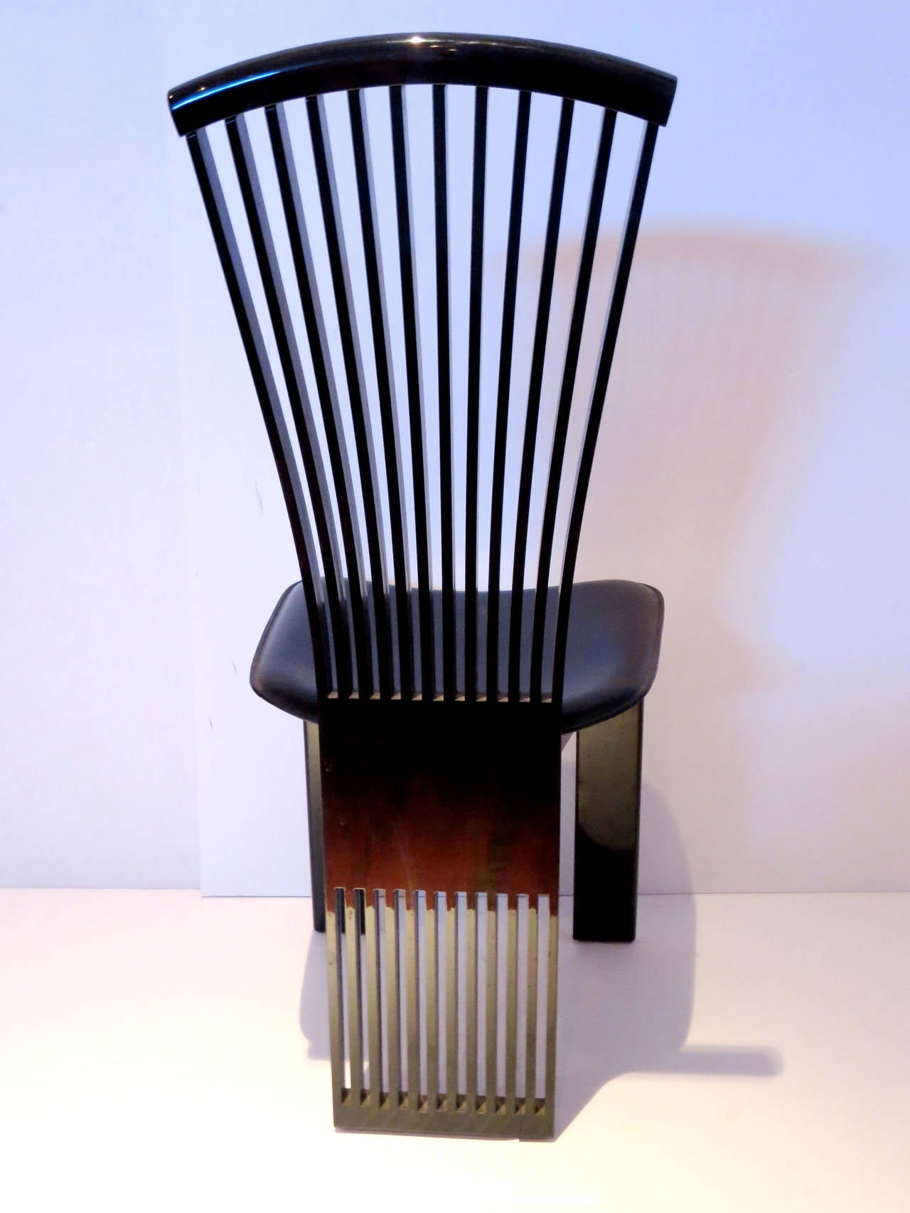 Four Italian Fan Back Chairs By Pietro Costantini In