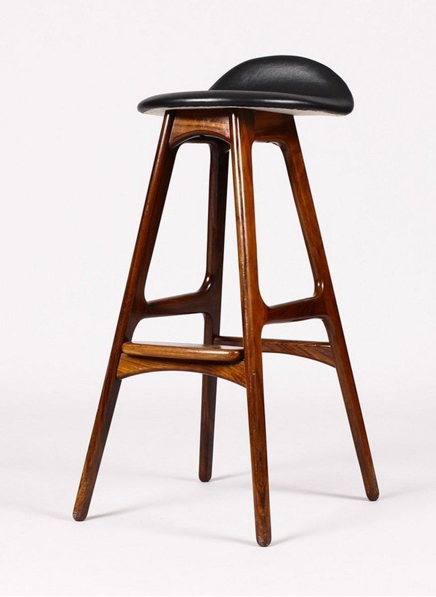 Two 1960s Original Bar Stools By Erik Buch At 1stdibs