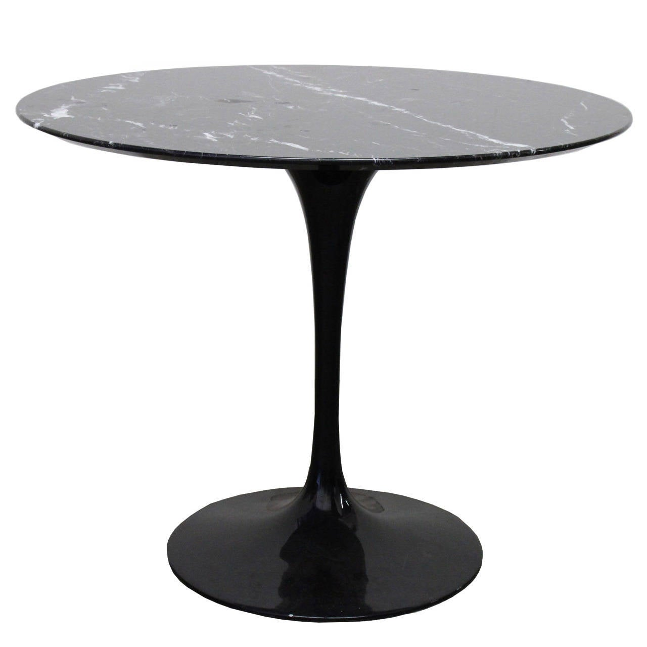 Black Marble Tulip Table By Saarinen At 1stdibs
