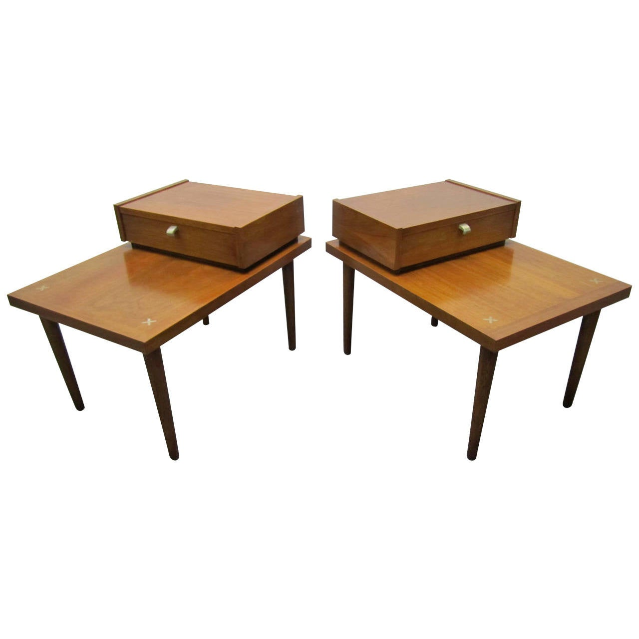 Handsome Pair Of American Of Martinsville Mid Century Modern End Tables For Sale At 1stdibs