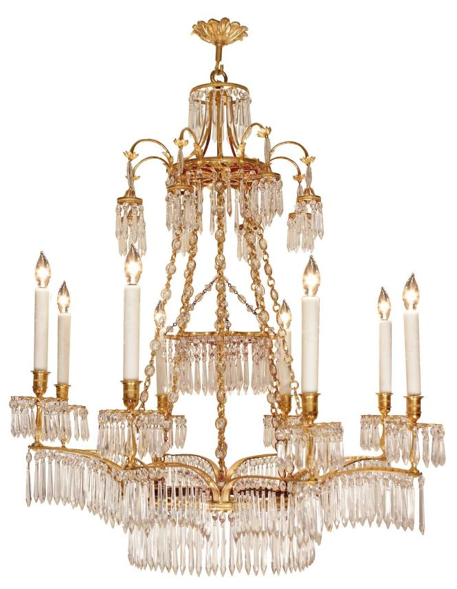 An Exquisite And High Quality Russian 19th Century Neo Classical St Crystal Ormolu Neoclassical