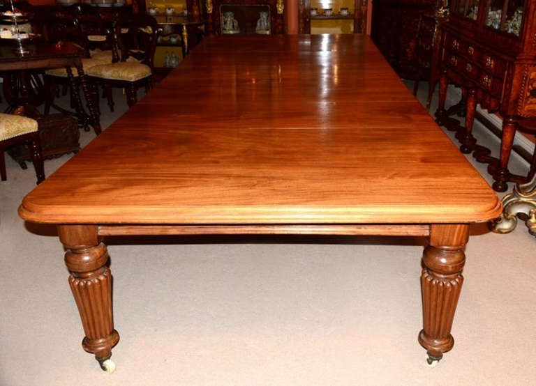 Antique 12ft Mahogany Dining Table C1850 And 16 Chairs At 1stdibs