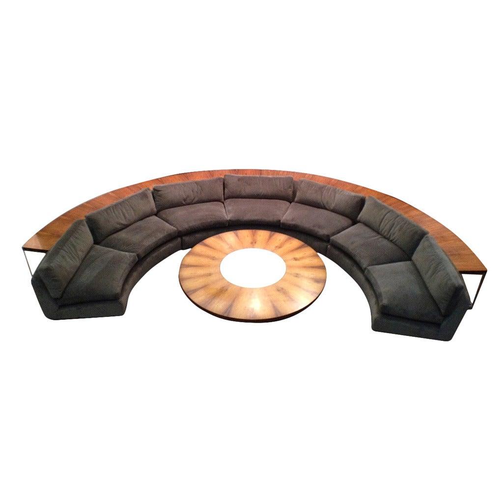 Complete Milo Baughman Thayer Coggin Half Circle Sectional