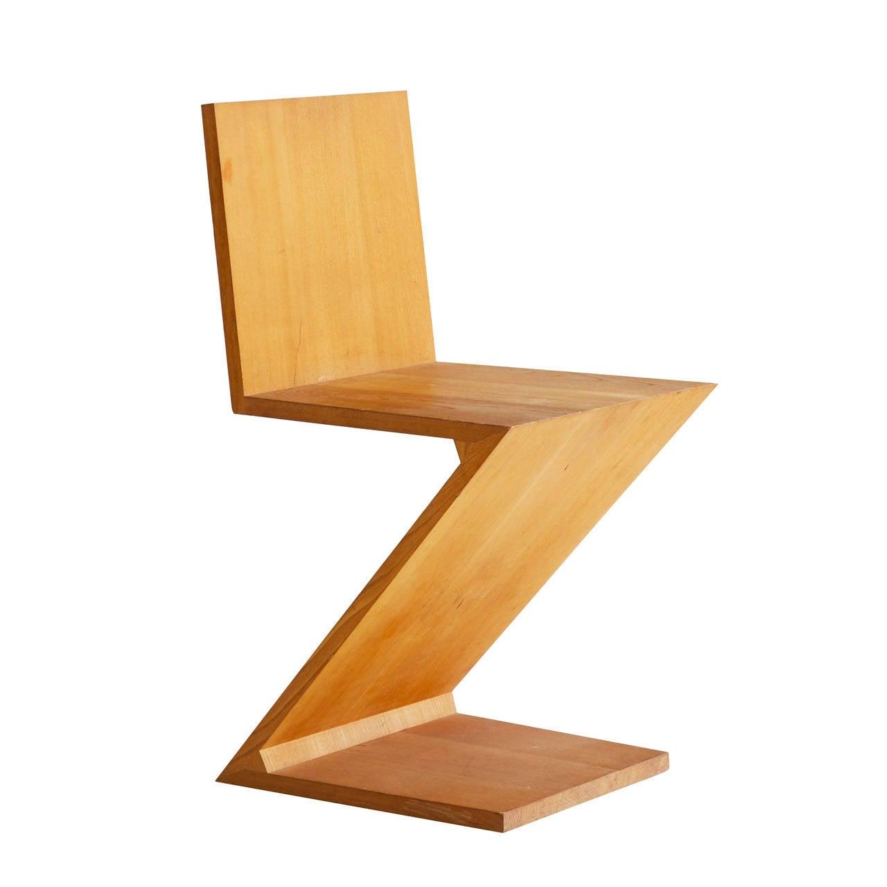 Gerrit Rietveld Zig Zag Chair At 1stdibs