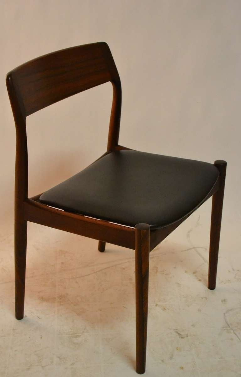 Set Of Four Rosewood Danish Modern Dining Chairs At 1stdibs
