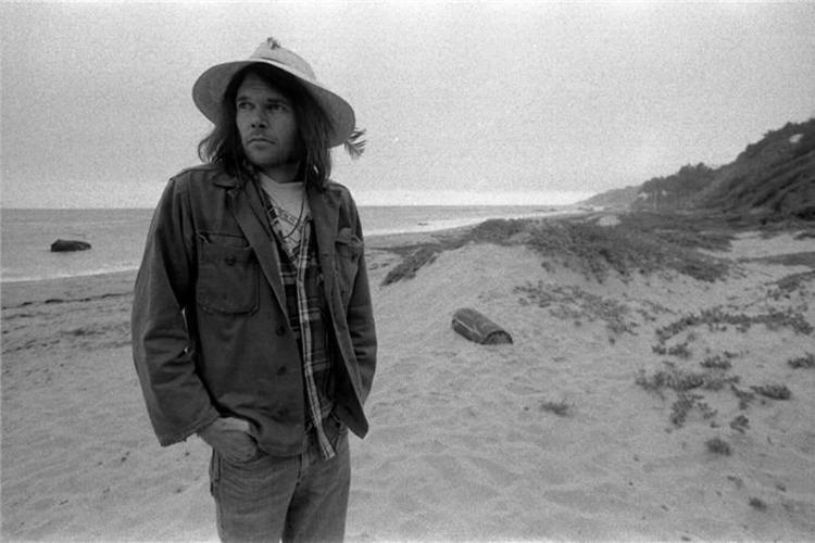 Henry Diltz - Neil Young at the Beach For Sale at 1stdibs