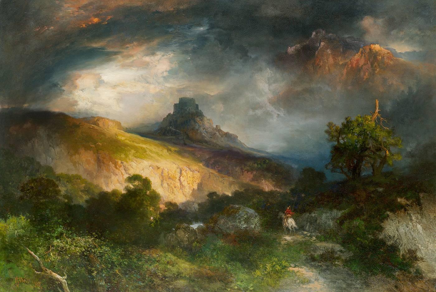 Thomas Moran Feudal Castle For Sale At 1stdibs