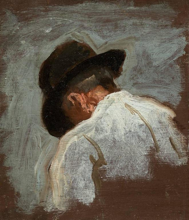 Thomas Eakins Study Of A Mans Head For Mending The Net