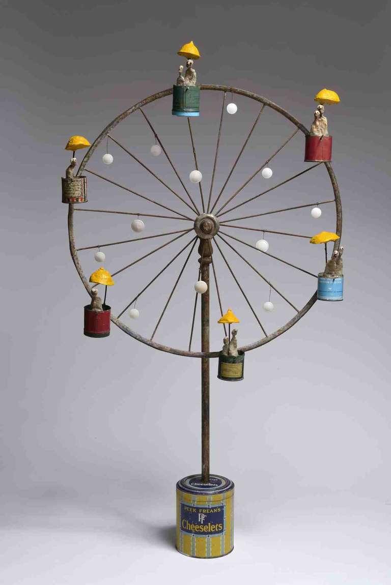 Gerard Cambon Kinetic Ferris 2014 Mixed Media Sculpture