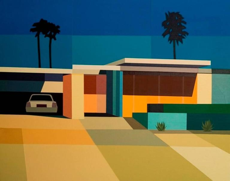 """Andy Burgess - """"Palm Springs Mid Century Modern House ... on Modern House Painting  id=55494"""
