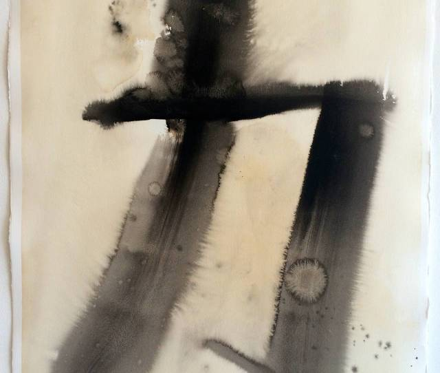 Keith Carrington Abstract Painting Chinese Calligraphy Strength