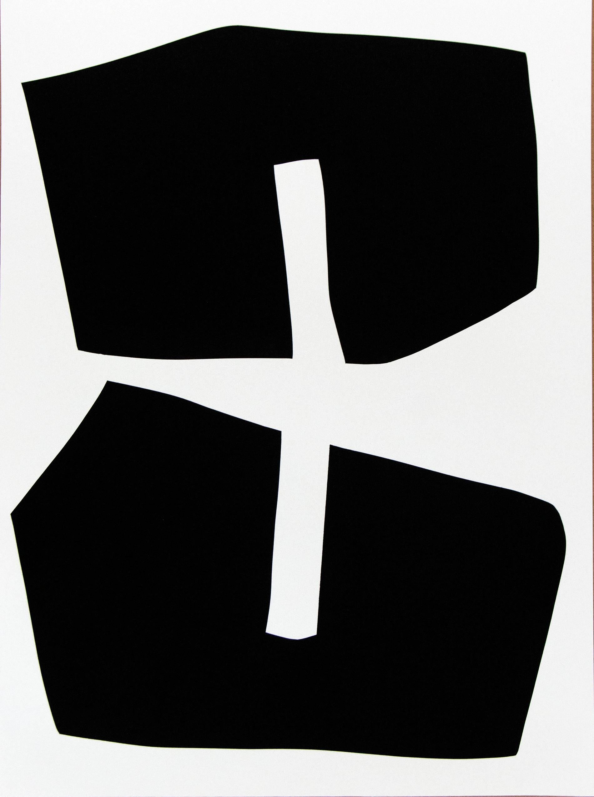 Aron Hill Black Shapes Suite Of 8 Print At 1stdibs
