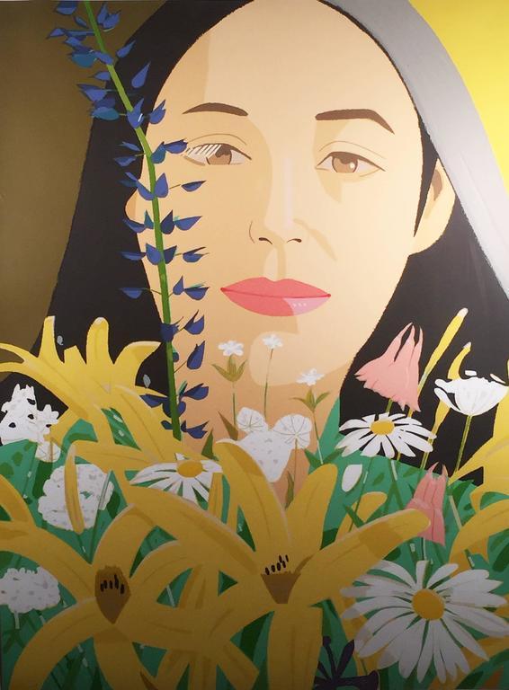 Alex Katz ADA WITH FLOWERS Print At 1stdibs