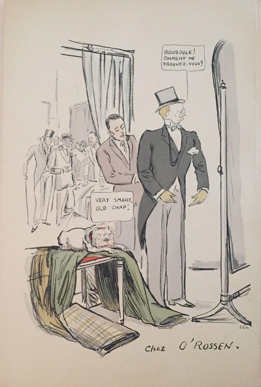 Georges Goursat Rare Vintage Art Deco Quot White Bottoms