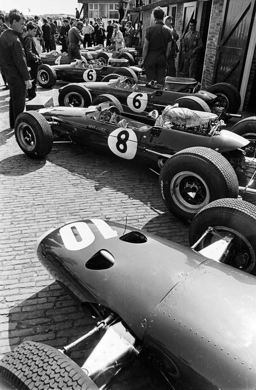Victor Blackman Racing Cars At The Dutch GP Photograph