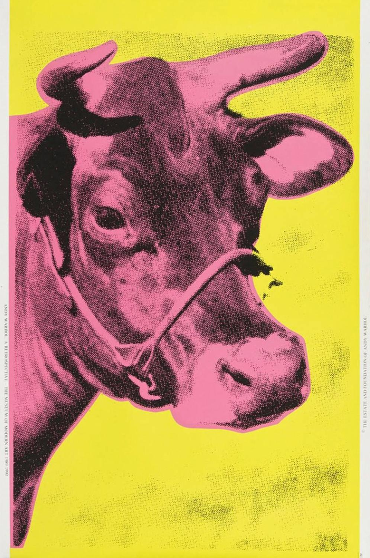 Andy Warhol Cow Pink At 1stdibs