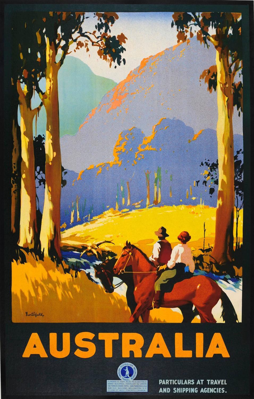 Original Vintage 1920s Travel Advertising Poster By James