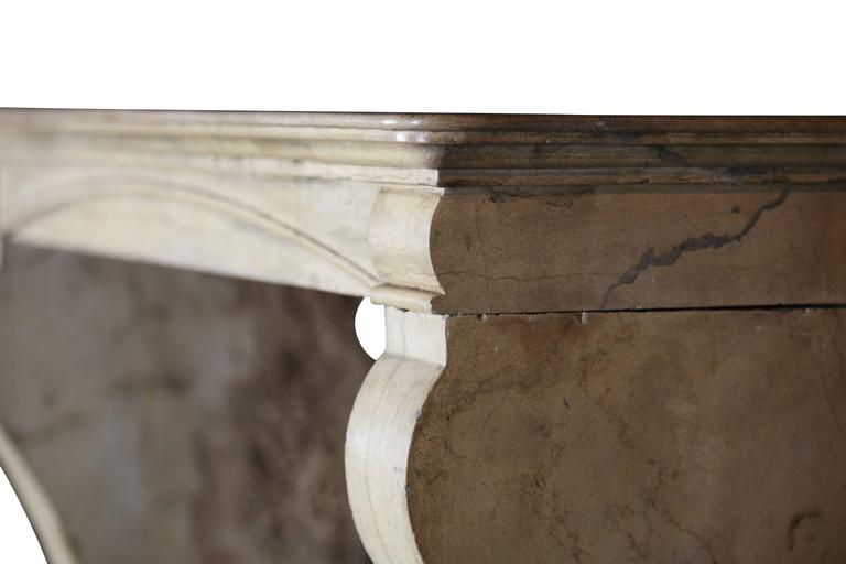 19th Century Hard Stone Antique Fireplace Mantel For Sale