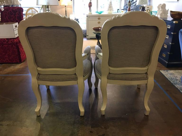 Pair Of Vintage Fauteuil Chairs With Holly Hunt Upholstery