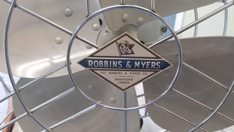 Robbins And Myers Mid Century Electric Three Speed Industrial Table Fan 1950s For Sale At 1stdibs