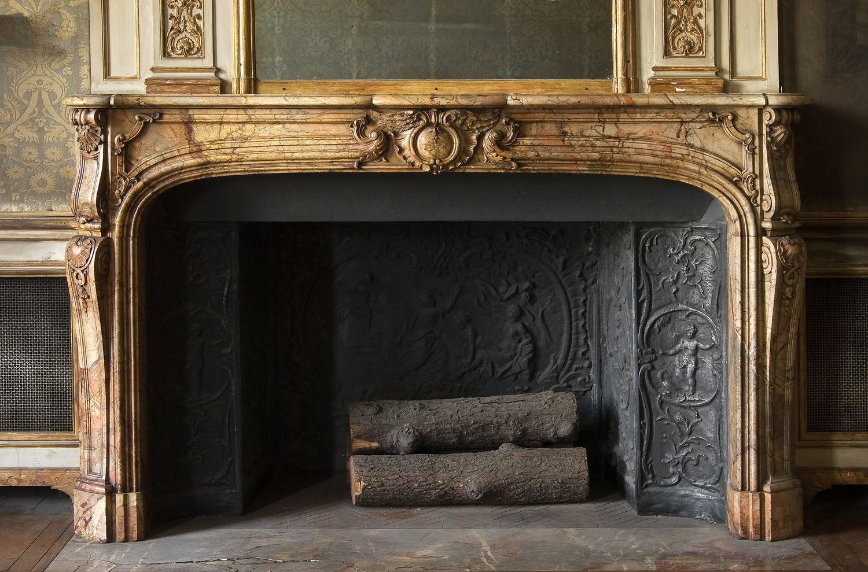 Beautiful Fireplace In Saracolin Louis Xv Period 18th
