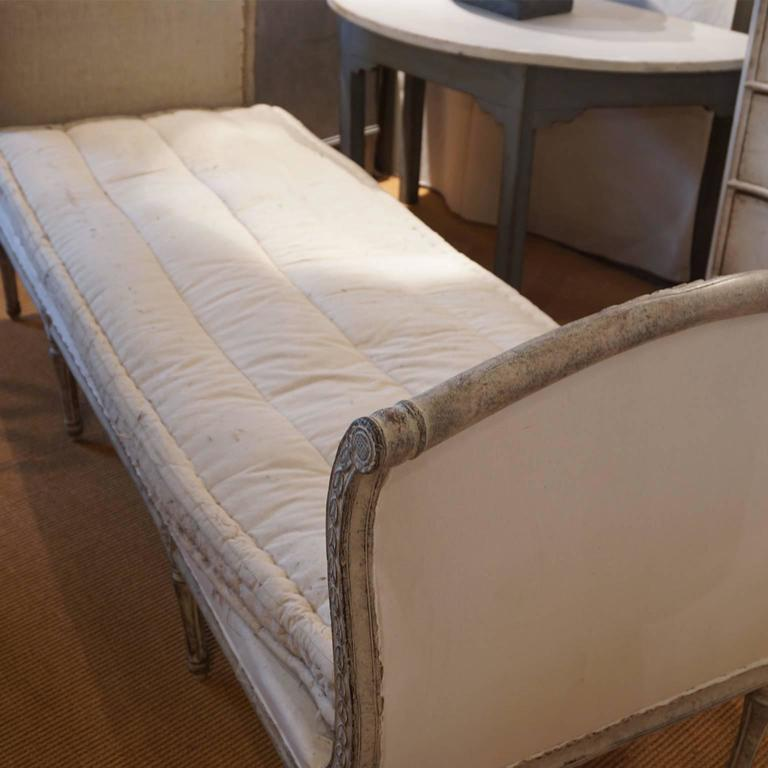 Antique Swedish Gustavian Wooden Daybed 18th Century At
