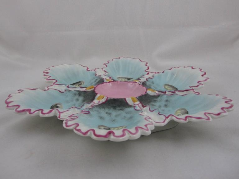 Antique Continental Porcelain Ruffled Edge Hand-Painted