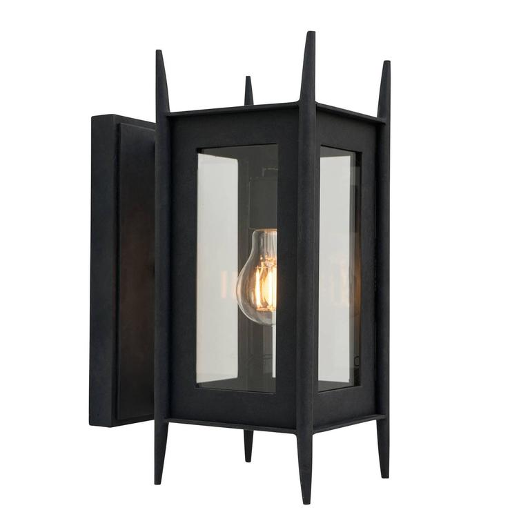Modern Wrought Iron Exterior Wall Sconce Outdoor Lighting ... on Modern Outdoor Wall Sconce id=15885