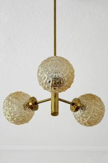 Small German Brass and Glass Sputnik Pendant Light Chandelier by     Mid Century Modern Small German Brass and Glass Sputnik Pendant Light  Chandelier by Richard Essig
