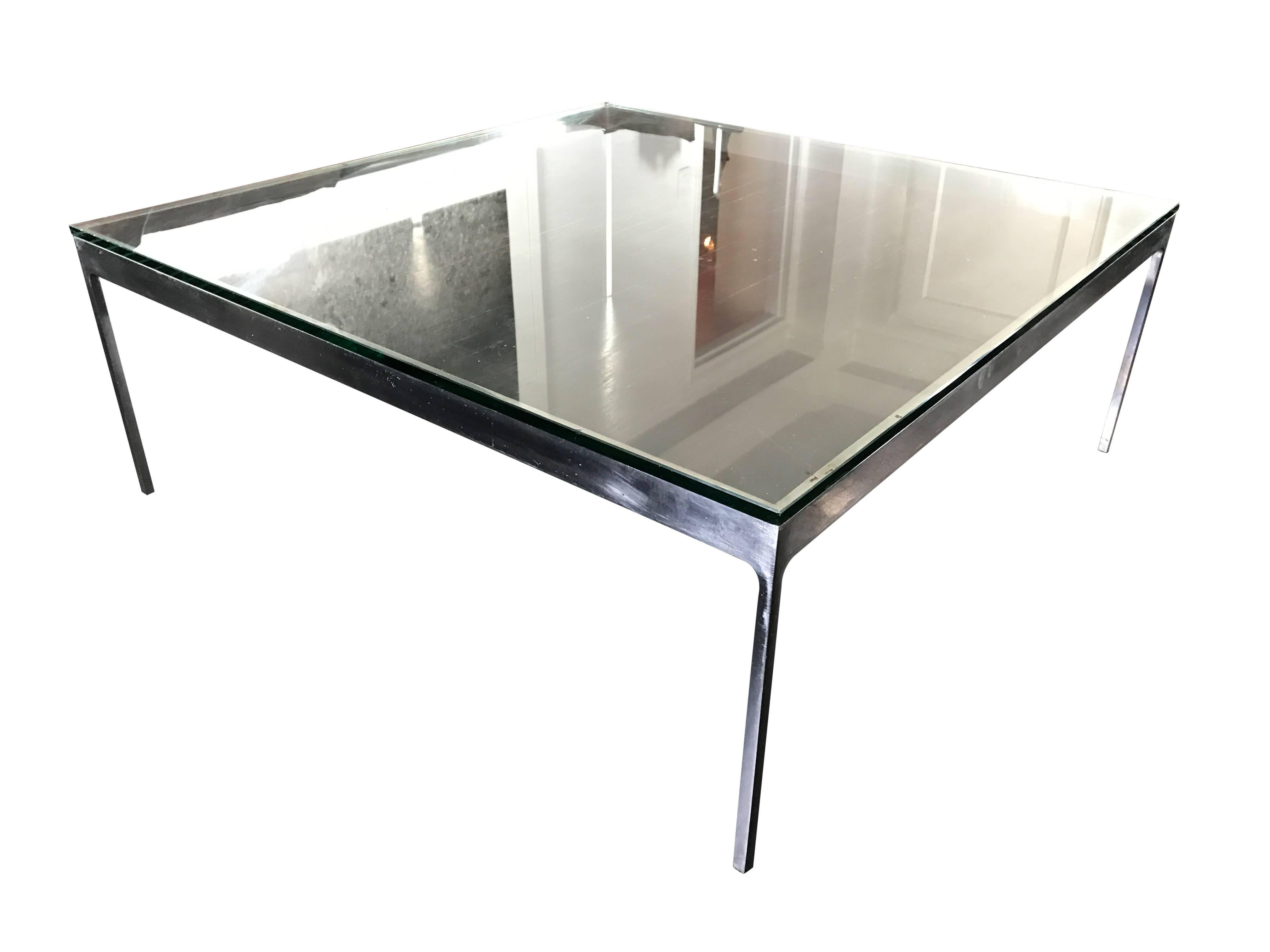 Large Square Cocktail Table By Nicos Zographos For Sale At
