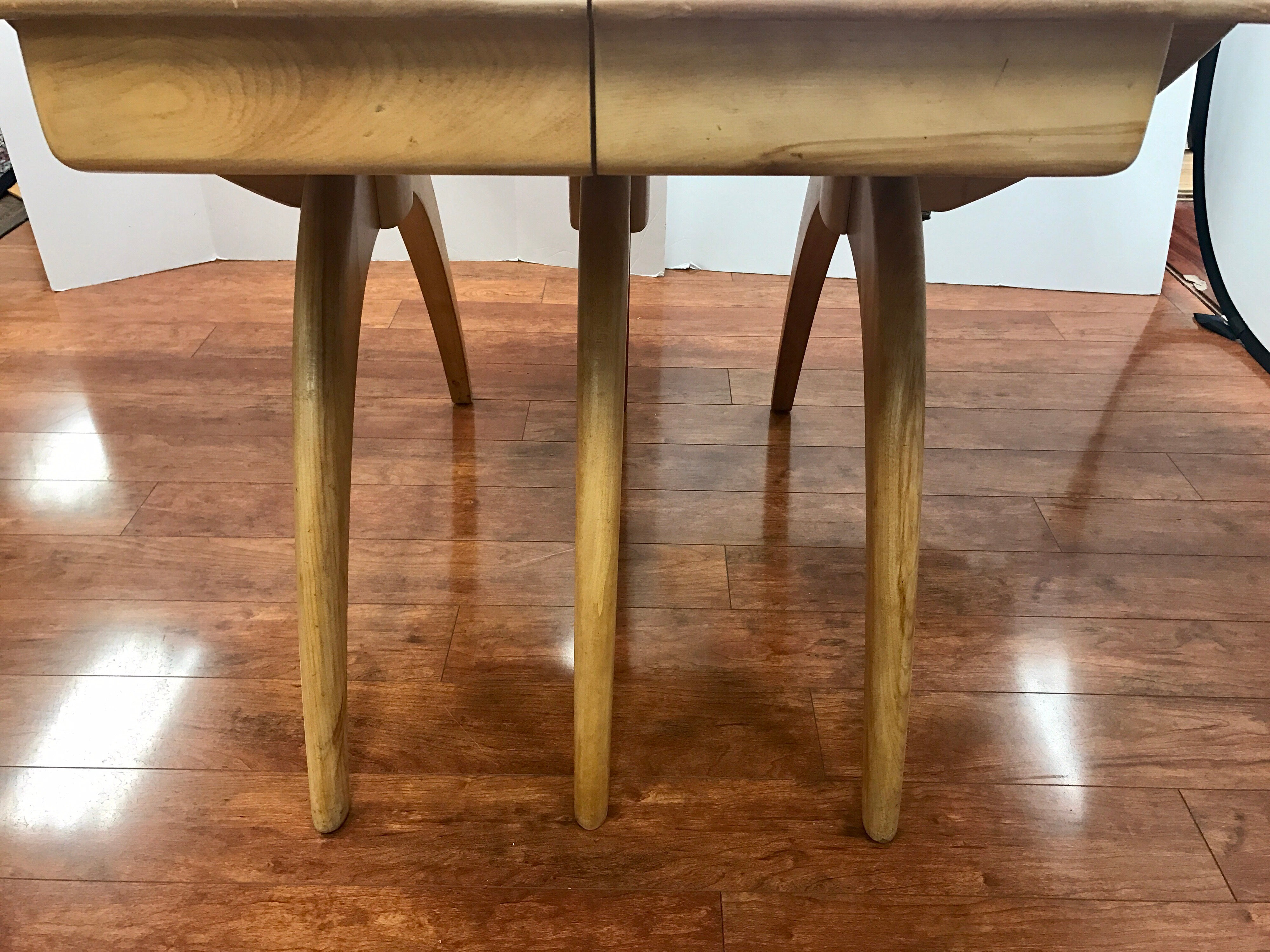 heywood wakefield dining set champagne boomerang dining table dog bone chairs