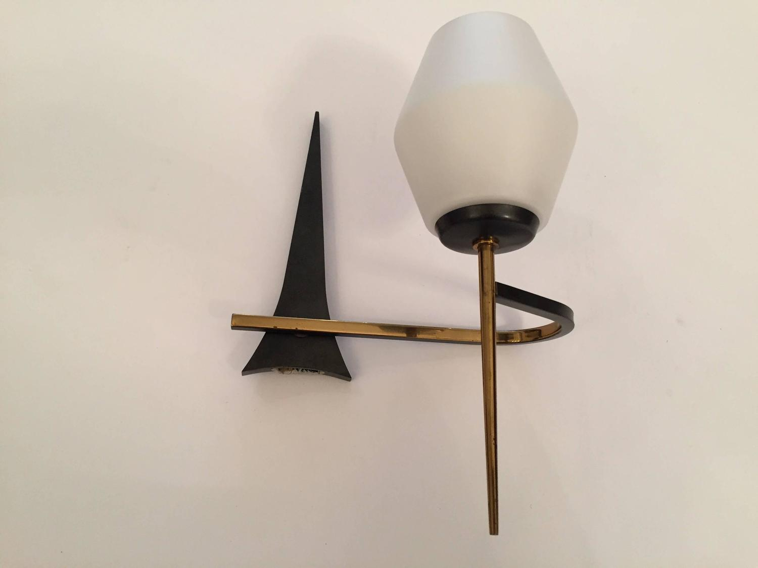 Pair of French 1950s Mid-Century Modern Sconces at 1stdibs on Mid Century Modern Sconces id=63830
