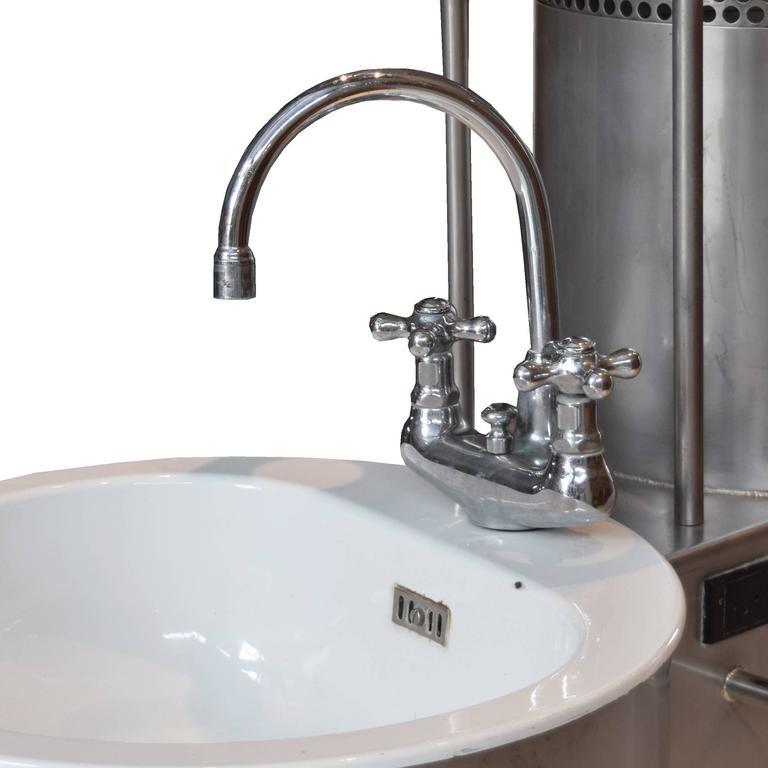 French Mid-Century Double Sink at 1stdibs