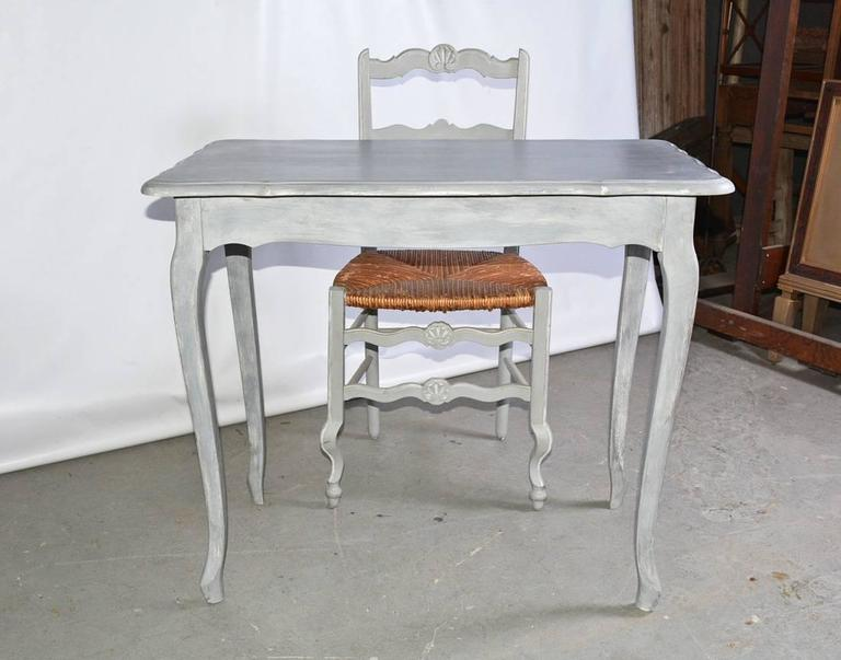 Vintage Country French Dressing Table And Chair For Sale