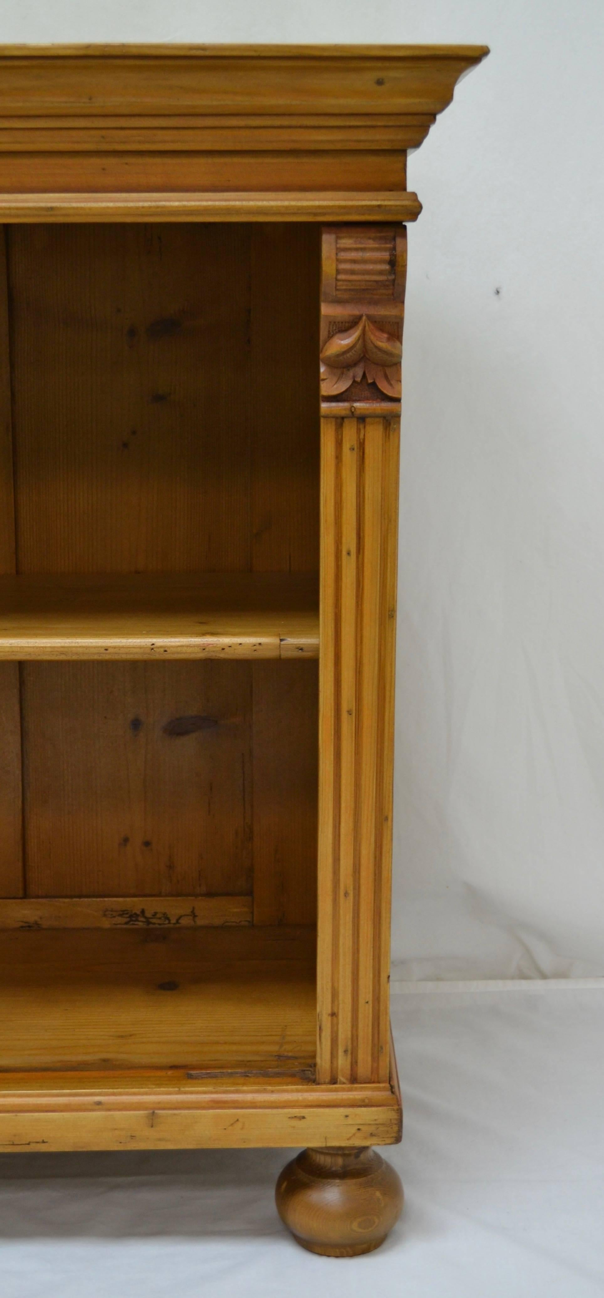 Pine Low Bookcase At 1stdibs
