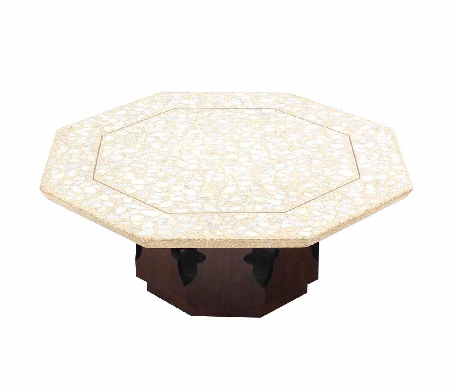 Large Harvey Probber Terrazzo Top Coffee Table For Sale At