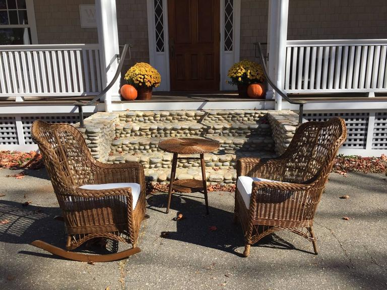 Victorian White Wicker Chair