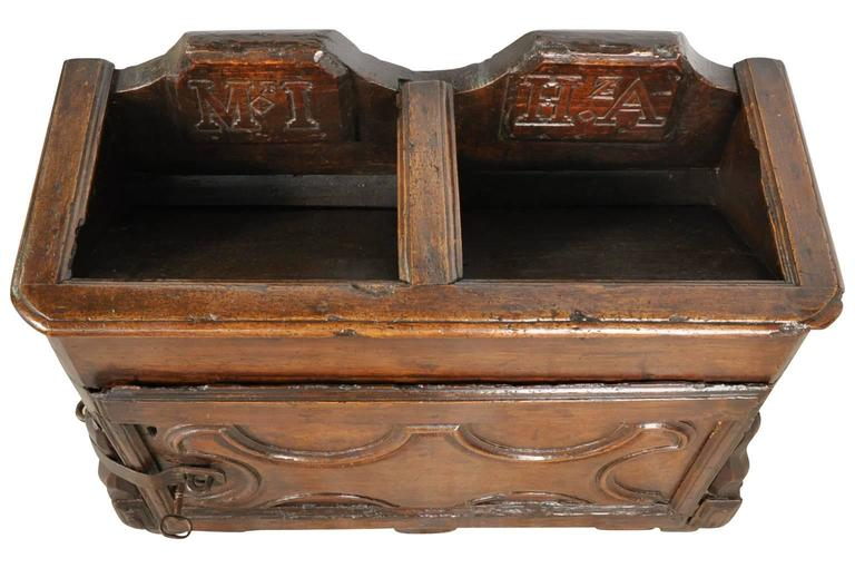 Italian 17th Century Primitive Collection Box For Sale At