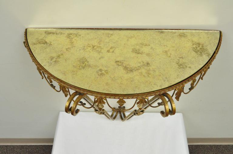 Adeco Italian Hollywood Regency Gold Gilt Metal Iron