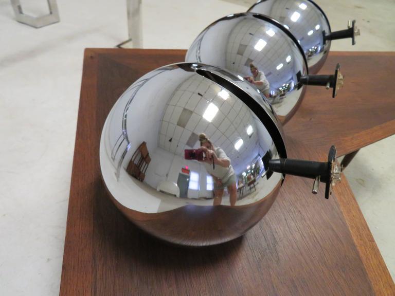 set of three lightolier eyeball track lighting fixtures mid century modern