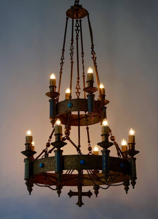 Rare Neo Gothic Chandelier At 1stdibs
