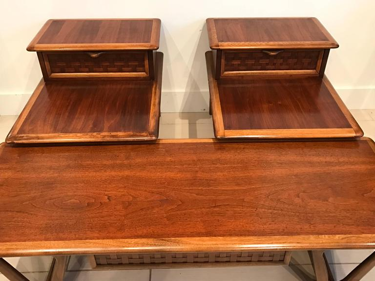 Pair Of Mid-Century End Tables And Coffee Table By Andre