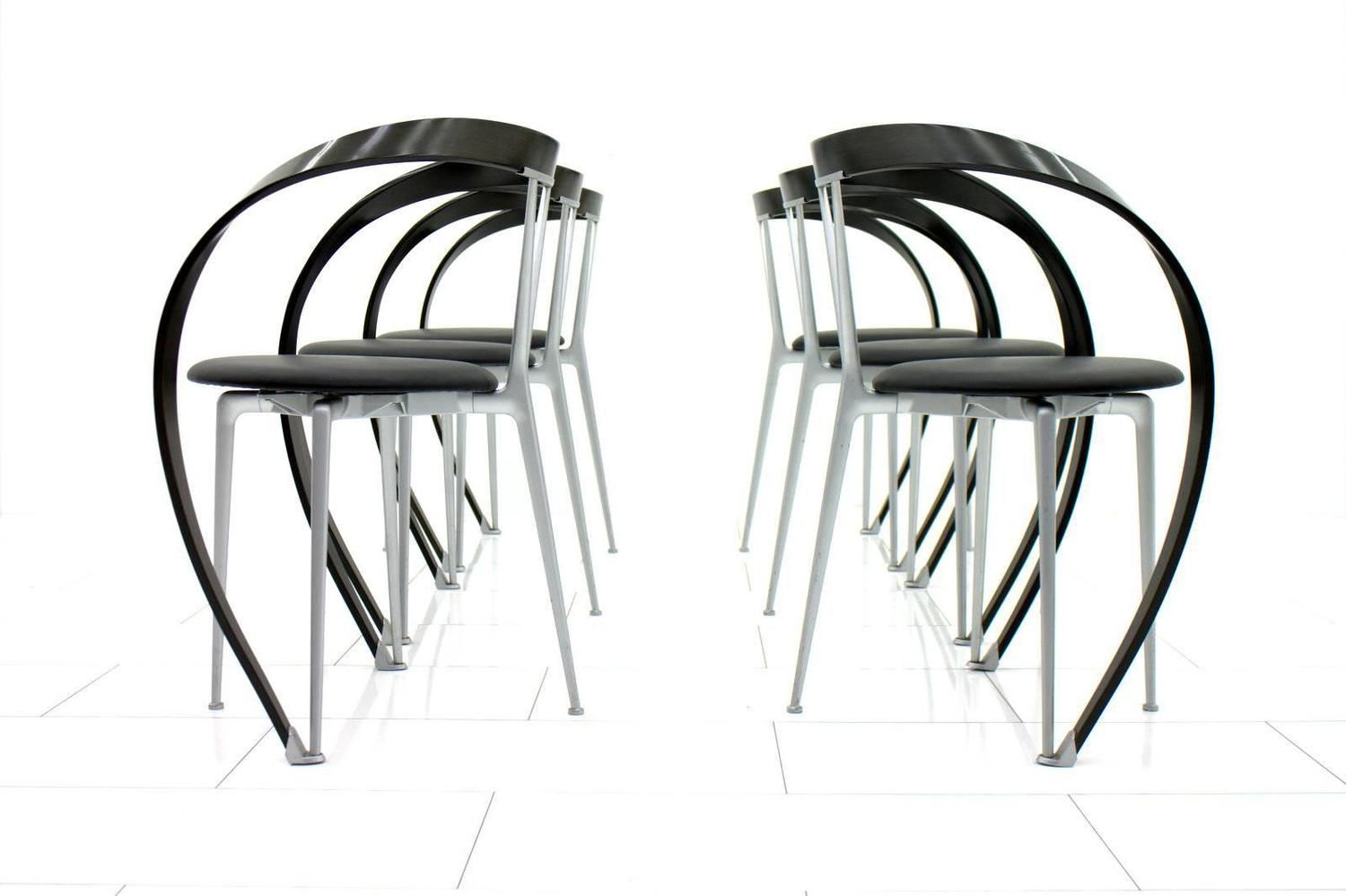 Set Of Six Revers Chairs Andrea Branzi For Cassina